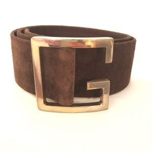 Givenchy brown suede belt